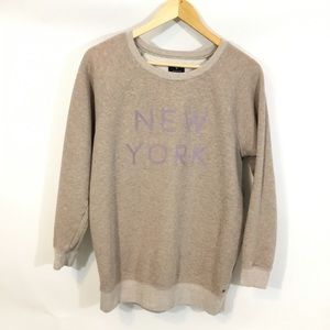 American Eagle Outfitters Tops - American Eagle Tan Pullover New York Sweatshirt